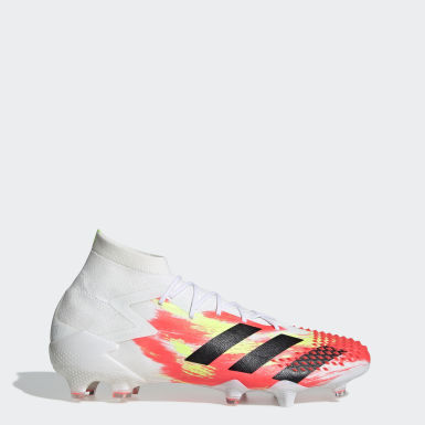 Football White Predator Mutator 20.1 Firm Ground Boots