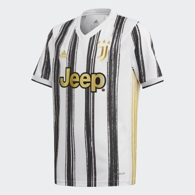 เด็กผู้ชาย ฟุตบอล สีขาว เสื้อฟุตบอลชุดเหย้า Juventus