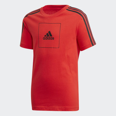 Playera adidas Athletics Club Rojo Niño Training
