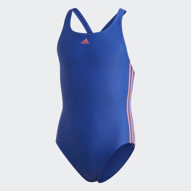 Børn Svømning Blå Athly V 3-Stripes badedragt