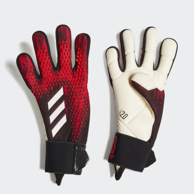 Youth 8-16 Years Football Black Predator 20 Pro Goalkeeper Gloves
