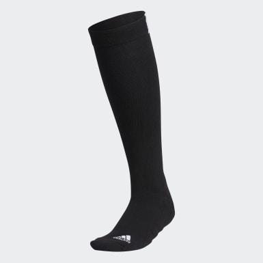Women Golf Black 3-Stripes Knee Socks