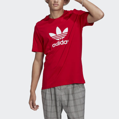 Men Originals Red Adicolor Classics Trefoil Tee