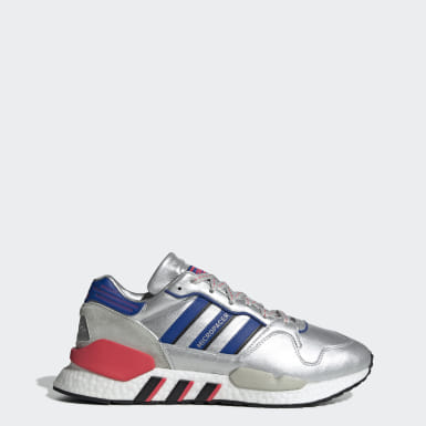 zapatillas adidas mujer plateadas