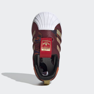 Infants Originals Burgundy Superstar 360 Shoes