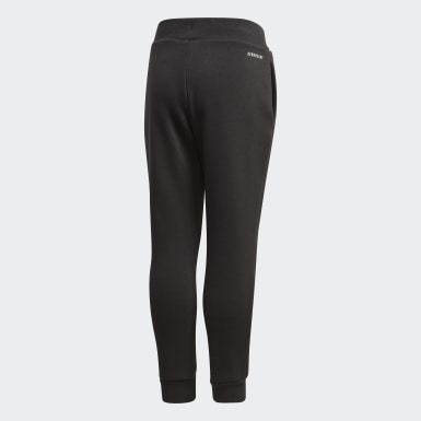 Kids 4-8 Years Training Black Fleece Joggers