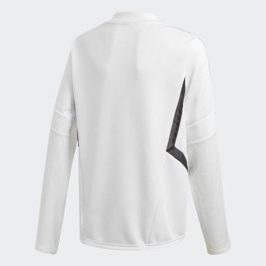 Boys Fodbold Hvid Real Madrid træningstrøje