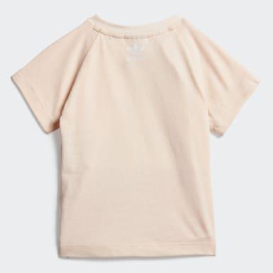 Camiseta Large Trefoil Rosa Niña Originals