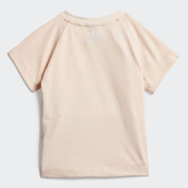 Girls Originals Pink Large Trefoil Tee