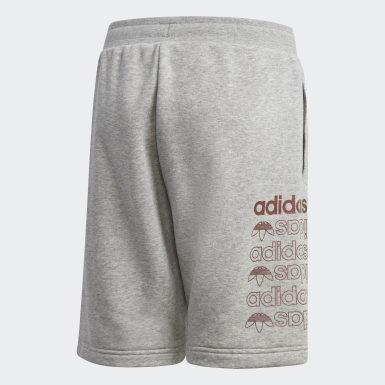 Youth Originals Grey Linear Logo Shorts