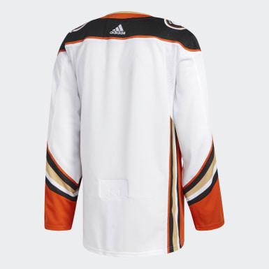 Men Hockey White Ducks Away Authentic Pro Jersey