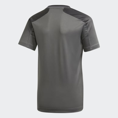 Jungen Training Football Inspired X AEROREADY Shirt Grau