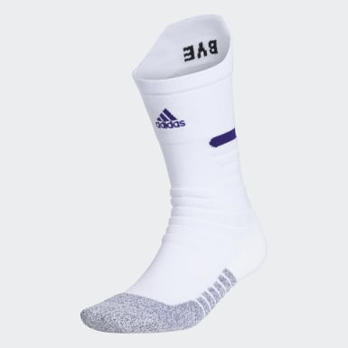 Training White Adizero Football Cushioned Crew Socks