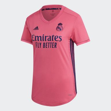 Kvinder Fodbold Pink Real Madrid 20/21 udebanetrøje