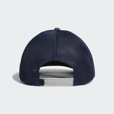 Men Golf Blue Patch Trucker Hat