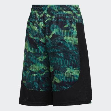 Children Training Green Core Camo Shorts