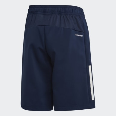 Shorts 3 rayas Azul Niño Training