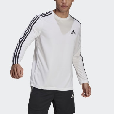 Polo adidas Designed To Move Aeroready 3 Tiras Blanco Hombre Training