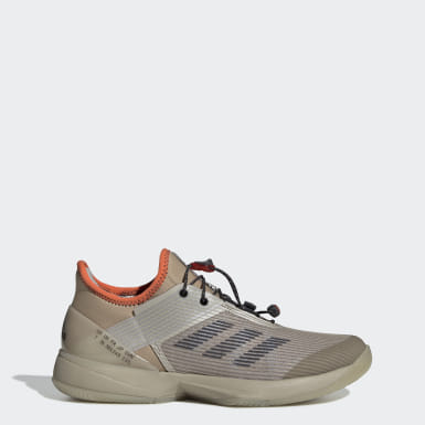 Women's Tennis Beige Adizero Ubersonic 3 Citified Shoes