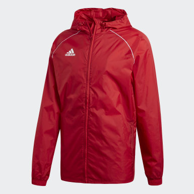 Men Training Red Core 18 Rain Jacket
