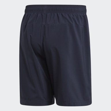 Men Training Blue Essentials Linear Chelsea Shorts