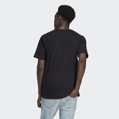 Men Originals Black Adicolor Tricolor Tee
