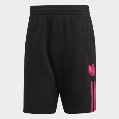 Men's Originals Black 3D Trefoil 3-Stripes Sweat Shorts