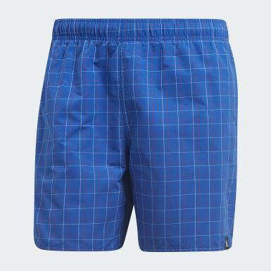 синий Пляжные шорты Checkered