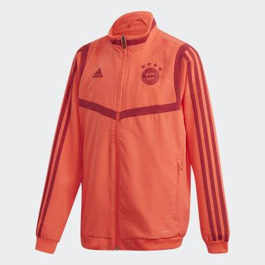 Boys Fodbold Rød FC Bayern præsentationsjakke