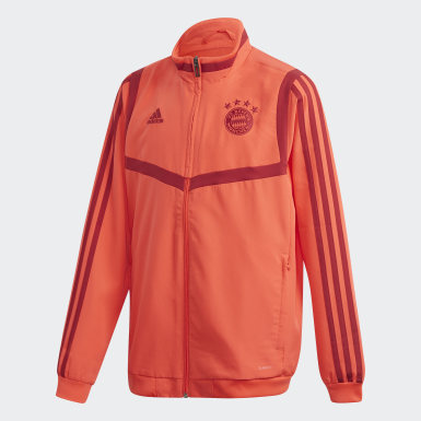 Youth 8-16 Years Football Red FC Bayern Presentation Jacket
