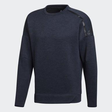Men Athletics Blue adidas Z.N.E. Sweatshirt