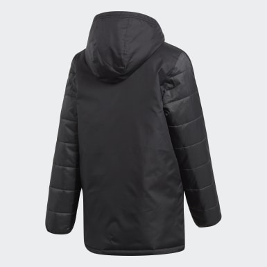 Youth Soccer Black Winter Jacket 18