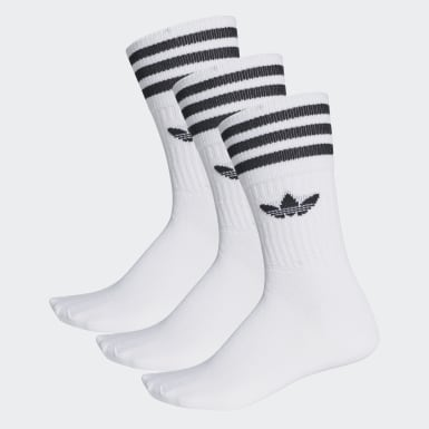 Originals White Solid Crew Sock 3 Pairs