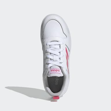 Girls Running White Tensaur Shoes