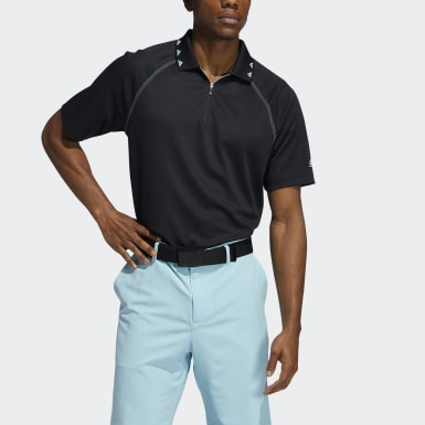 Heren Golf zwart Equipment Piqué Poloshirt