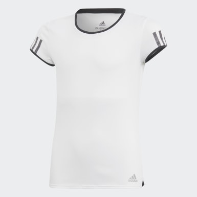 Youth Tennis White Club Tee