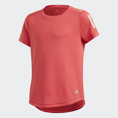 Girls Training Red Own the Run Tee