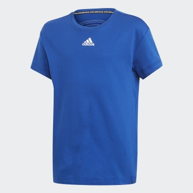 Playera Must Haves 3 Franjas Azul Niño Training