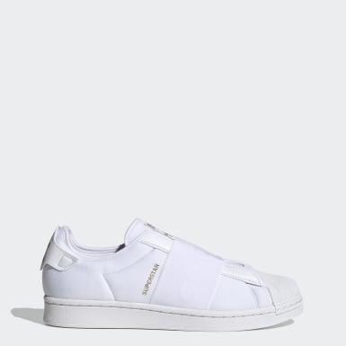 ผู้ชาย Originals สีขาว รองเท้า Superstar ทรงสลิปออน