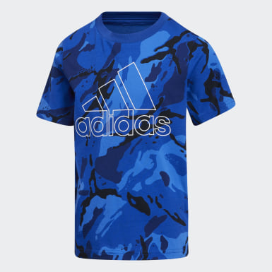 Children Training Blue Classics Camo Tee