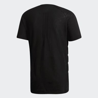 Erkek Koşu Siyah Primeknit Wool Tişört