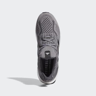 Men Running Grey Ultraboost 5 Uncaged DNA Shoes