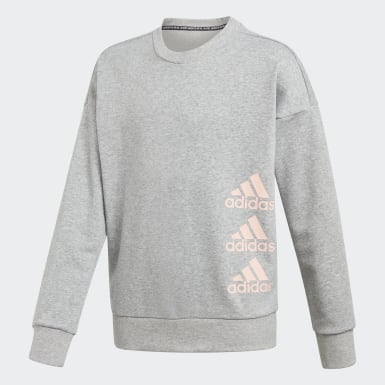 Barn Träning Grå Must Haves Crew Sweatshirt