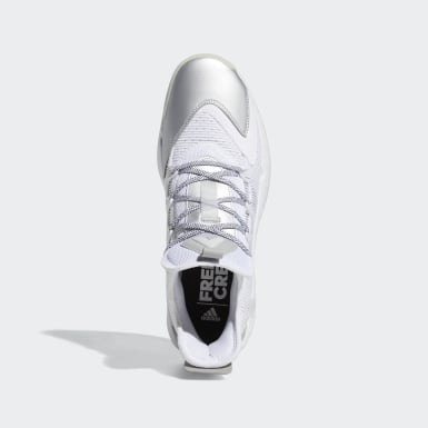 Basketbal wit Pro Boost Low Schoenen