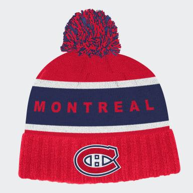 Men's Training Multicolor Canadiens Cuffed Knit Pom Hat