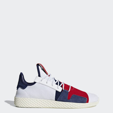 Tenis Pharrell Williams BBC Hu V2 Blanco Hombre Originals