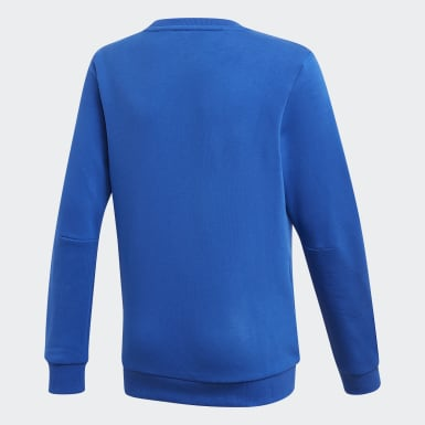 Boys Training Blue Must Haves Crew Sweatshirt