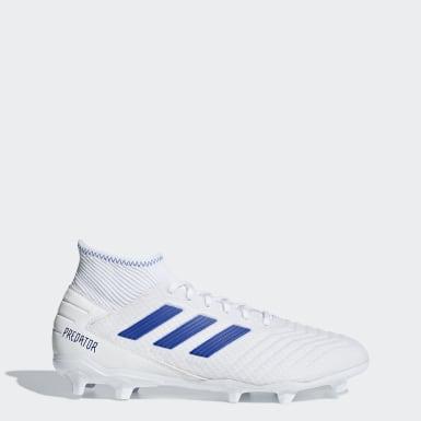 Football White Predator 19.3 Firm Ground Boots