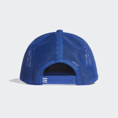 Boné Trucker Snapback Azul Training