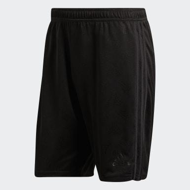Men Football Black Tango Jacquard Shorts